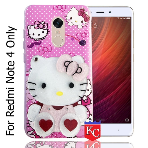 new arrival 81c50 ae981 Mirror Pink Doll For Back Cover Redmi Note 4 - Pink